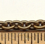Brass Cable Chain with Oval Links<br>75 Feet for