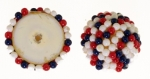 Beaded Cabachons<br>20mm<br>2 Colors available<br>4 Dozen For