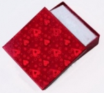 Red Foil Box<br>3 1/2&quot; x 3 1/2&quot; x 1&quot; Deep<br>1 Dozen For