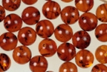 6mm Genuine Amber Beads<br>70 Pieces for