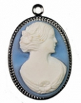 25 x 18mm Cameo Pendant <br> 1 Dozen for