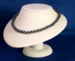 Necklace Bust<br>Display<br>White Leatherette<br>1 For