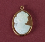 Genuine Shell Cameo<br>25mm x 18mm<br>1 For