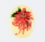 Christmas Poinsettia <br>40mm x 30mm<br>18 Pieces For