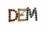 "Rhinestone Political Pin  - ""DEM""<br>1 dozen for"