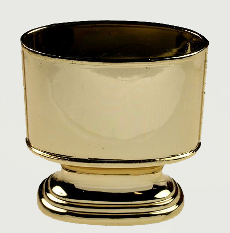 Vintage Cigarette Cigarette Urn Gold Plated Tabletop Table Top Marhill