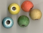 Large Hole Ceramic Beads. <br> 2 pounds for