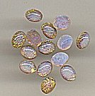 Glass opal<br>8 x 6mm ovals<br>1 gross for