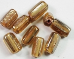 13 x 6mm Glass Bead, Khaki Irridescent<br>1 pound for