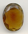 Glass TTC Ovals<br>30 x 22mm Smoke Topaz (Unfoiled)<br>4 dozen for