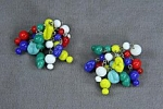 Vintage Glass Bead Cluster<br>36 pieces for