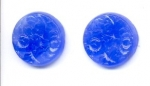 Etched Floral Glass 18mm Blue<br>1/2 gross for