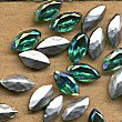 Vintage Glass<br>8 x 4mm Navettes in AB colors<br>4 gross for