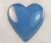 Vintage Flat Back Heart<br>15 x 14mm Blue Opal<br>1 gross for