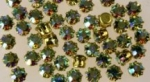 Rhinestones in Settings<br>19ss Chrysolite AB<br>2 gross for