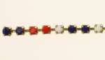 Swarovski Rhinestone Chain<br>24pp (3mm) Red White and Blue<br>10 feet for