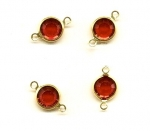 Swarovski Channel Set Stones 9mm (39ss)<br>Siam Ruby with 2 loop<br>1 gross for