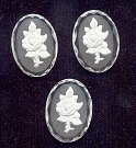 Glass Intaglio - Vintage<br>25 x 18mm floral<br>1/2 gross for