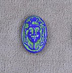 Glass Cameo<br>16 x 11mm Blue Pharoah<br>1 gross for