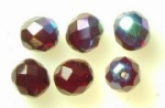8mm Fire Polished Bead - Garnet AB<br>1 mass for