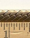 Brass Serpentine Chain<br>1 spool (82 feet) for