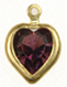 Swarovski heart channel pendant<br>8 x 8.8mm Amethyst<br>1/2 gross for