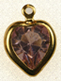 Swarovski heart channel pendant<br>Gold plate<br>8 x 8.8mm Light Amethyst<br>1/2 gross for
