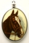 Horse limoges<br>40 x 30mm<br>1 dozen for