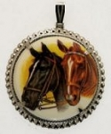 Horse limoges<br>38mm<br>1 dozen for