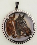 Horse limoges<br>38mm<br>1dozen for