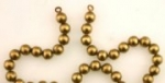 Brass Ball chain<br>24 inches w/ 5mm beads<br>20 pieces for