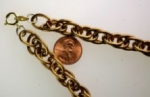 "Unplated brass rope chain necklaces<br>18"" lengths<br>6 for"