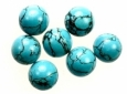 Turquoise<br>9mm Flat-Back Cabochons<br>1/2 gross for