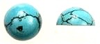 Turquoise<br>9mm Flat-Back Cabochon<br>1/2 gross for