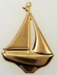 Sailboat Pendant<br>Gold plated<br>1/2 gross for