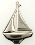 Sailboat Pendant<br>Silver plated<br>1/2 gross for