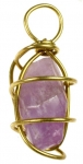 Genuine Amethyst Quartz<br>wire wrapped pendants<br>1 pound for
