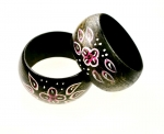 Hand-Painted Wooden Cuff Bracelets<br>12 bracelets for