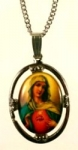 Religious Limoge<br>25 x 18mm<br>Sacred Heart Mary<br>1 dozen for