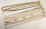 Necklace Assortment<br>16&quot; Gold Plated Chains<br>6 dozen for