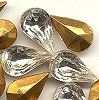 Pearshape<br>10 x 6mm Crystal<br>2 gross for