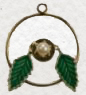 Leaf hoop pendant<br>36 pieces for