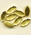 15 x 7mm Navette<br>Brass Settings<br>2 gross for