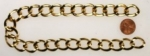 Gold Plated Curb Chain<br>Cut 13 3/4 Inches<br>10 Pieces For