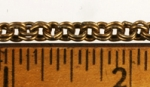 9 Inch Double Cable Chain<br>Brass Plated Steel<br>50 Pieces For
