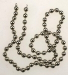 Plated Ball Chain<br>17 1/2 Inches 4.5mm bead<br>20 Pieces For