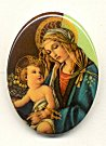 Plastic Limoges<br>40 x 30mm - Religious Scene<br>18 Pieces for
