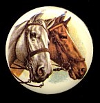 Plastic Limoges<br>38mm<br>2 Horses<br>18 Pieces for