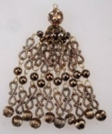 Metalized plastic Tassels<br>Antique Gold<br>4 Dozen For