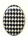Plastic Oval Cabachons<br>40 x 30mm Checkerboard Pattern<br>2 dozen for